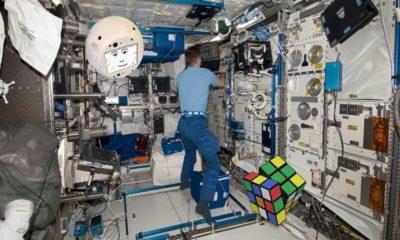 CIMON, robot volador con Inteligencia Artificial, tripulante de la Estación Espacial Internacional