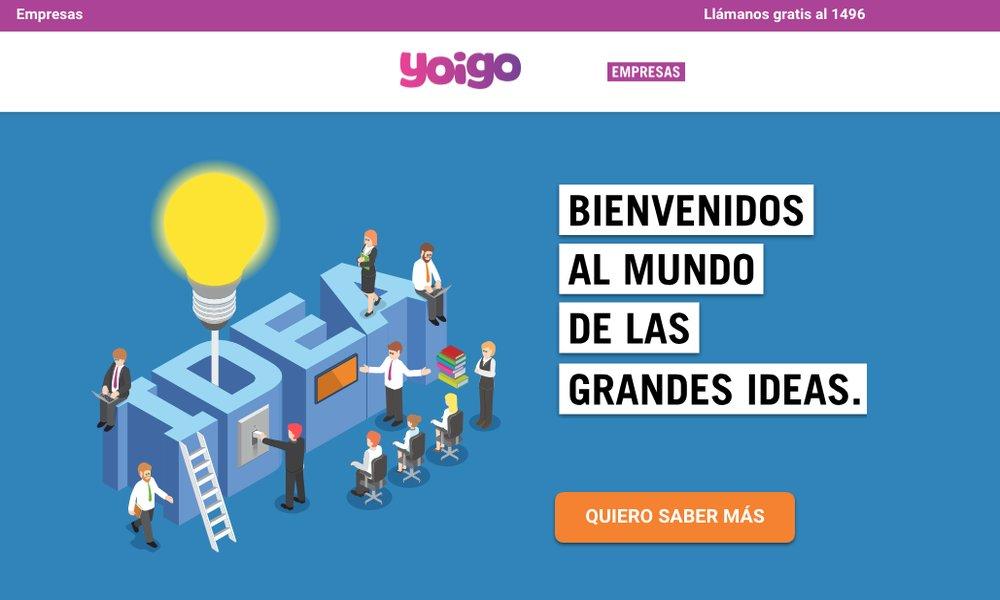 Yoigo presenta su oferta de tarifas móviles para empresas medianas y grandes