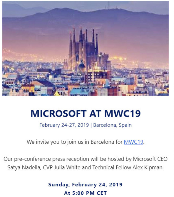Microsoft en MWC 2019