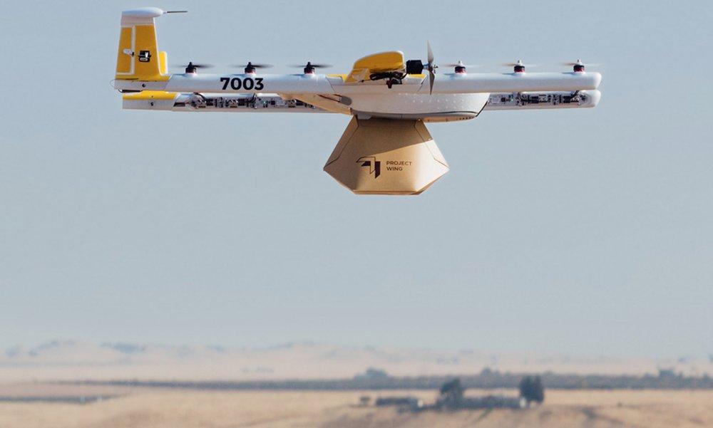 Wing, filial de Alphabet, consigue autorización para hacer repartos con drones en EEUU
