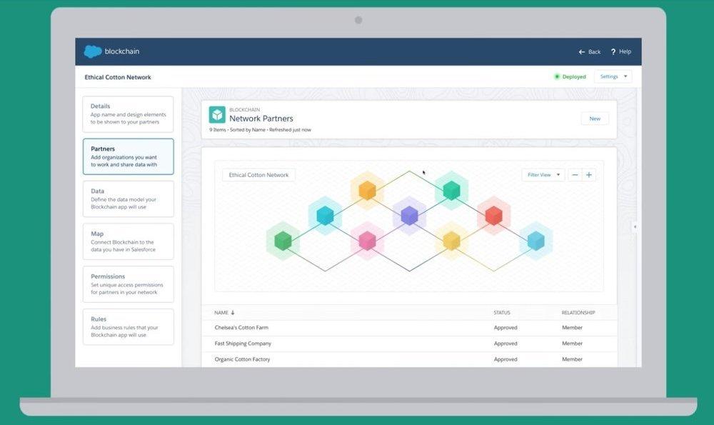 Salesforce pone en marcha su plataforma de creación de redes Blockchain