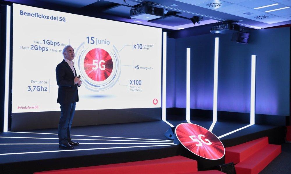 Vodafone lanzará su red comercial 5G en 15 ciudades de España el 15 de junio