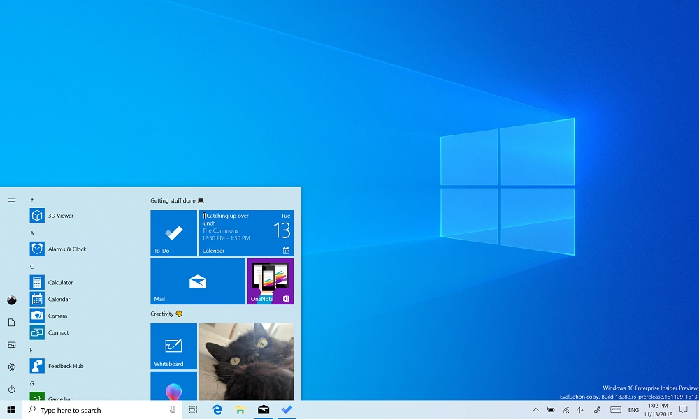 Windows 10 versión 1903