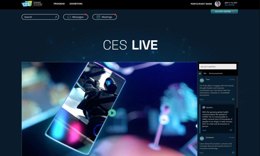 Así será el CES 2021: online, con más de 1.000 expositores virtuales y 100 horas de programación