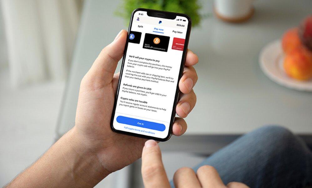 Paypal permitirá a partir de ahora el pago online con criptomonedas