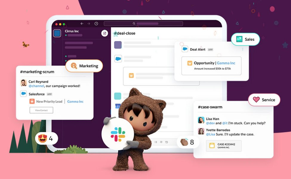 Llegan las primeras integraciones de Salesforce con Slack tras cerrar su compra